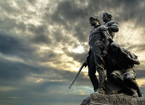 Lewis and Clark and Sacagawea statue, Charlottesville (Flickr user Shmaktyc)