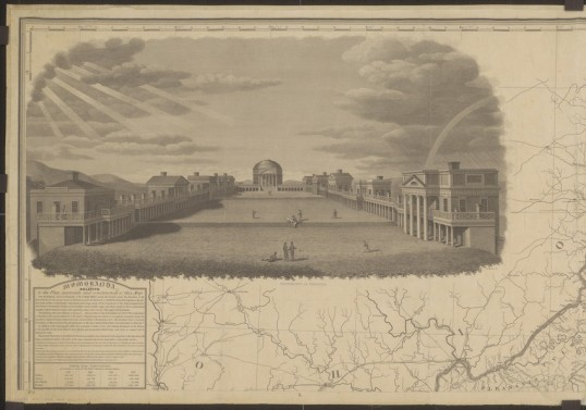 """University of Virginia"" by B. Tanner, 1827 (University of Virginia Library, Special Collections)"