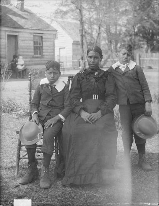 The Bradby Family by James Mooney, ca. 1900 (Virginia Indian Archive)
